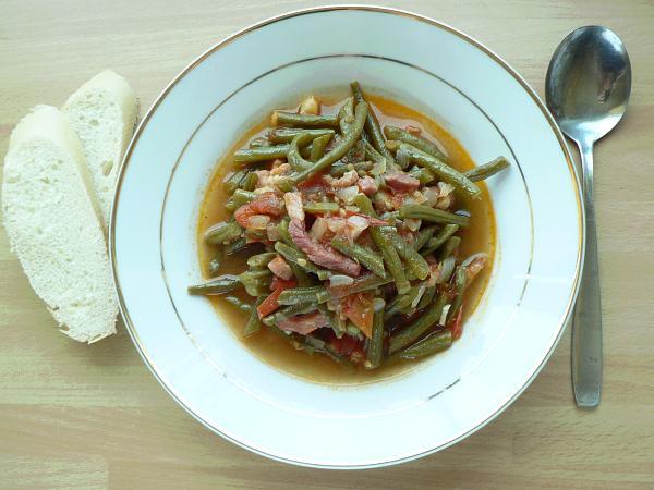 Zelená fazuľka na baskický spôsob - recept