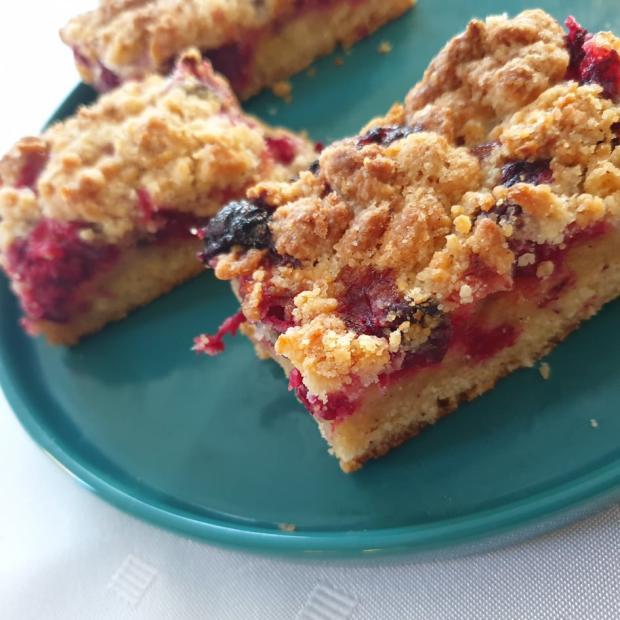 Sypaný brusnicový koláč - recept