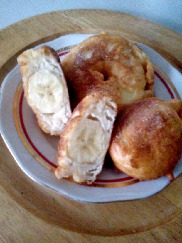 Vysmažené banány a jablká - recept
