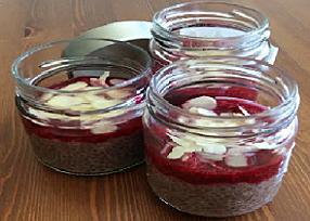 Chia puding s ovocím - recept