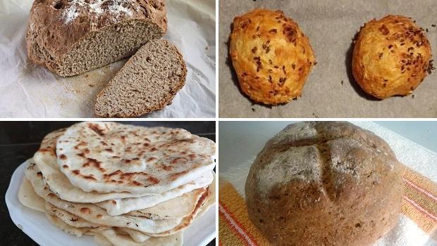 Recepty na chlieb a pečivo bez droždia a kvásku