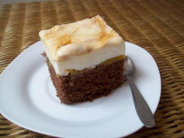 Tvarohovo - broskyňové rezy s kakaom