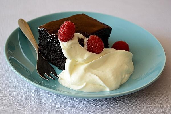 Čokoládová torta (skoro vegán) - recept