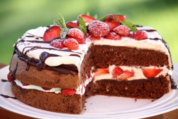 Čokoládovo jahodová torta - recept