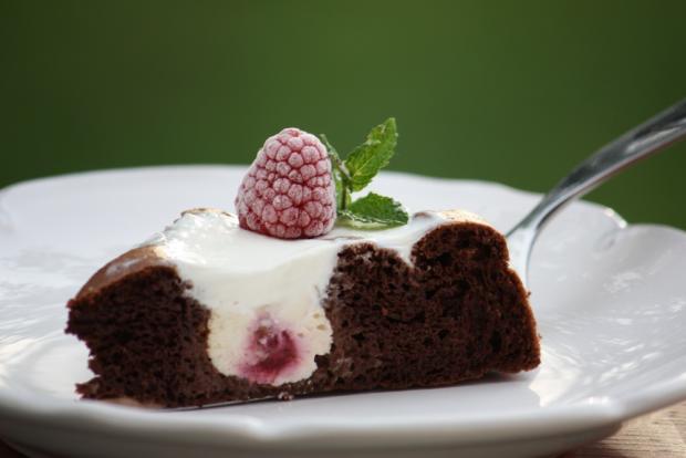 Kakaovo - tvarohový koláčik bez múky - recept