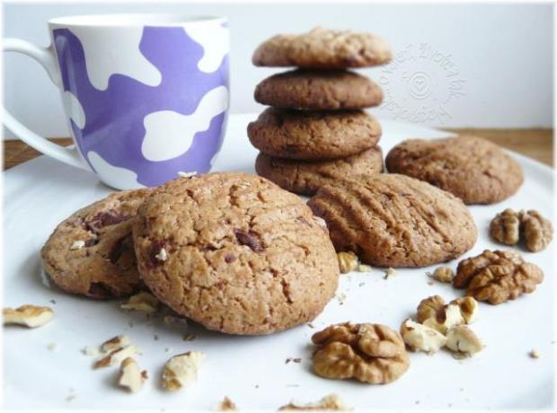 Sušienky s orechami a čokoládou - recept