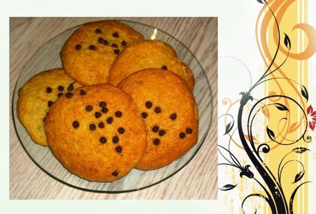 Čokoládovo banánové cookies. - recept