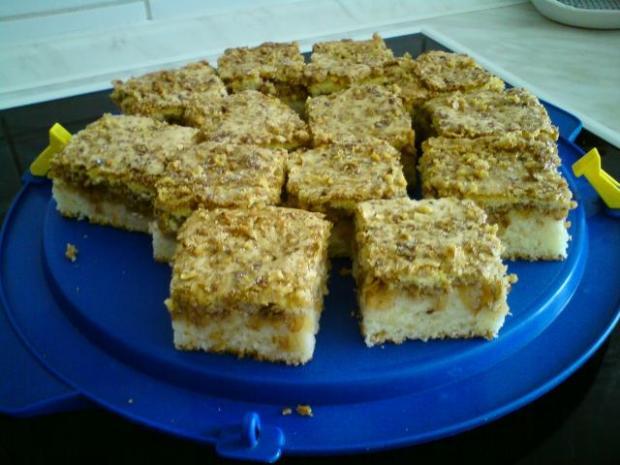 jablkovo tvarohový koláč - recept