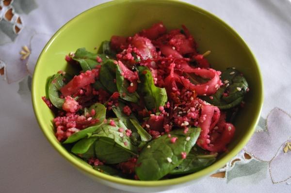 Cviklovo špenátový šalát - recept