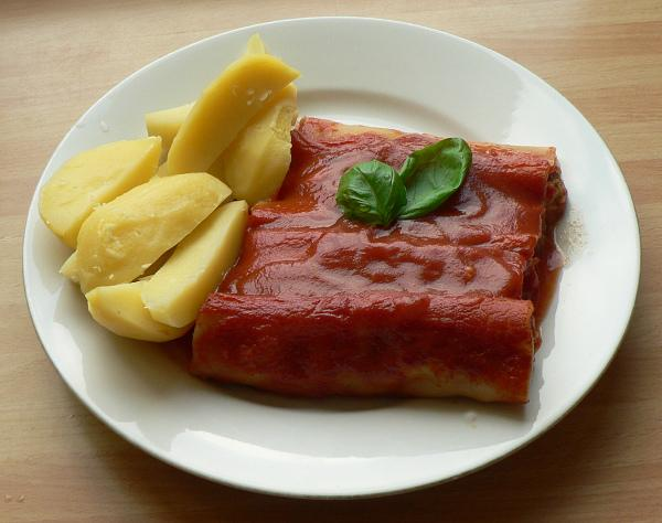 Zapekané canelloni plnené karfiolom a brokolicou | Recept | dasa_