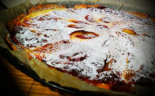 Broskyňový koláč s kyslou smotanou - recept