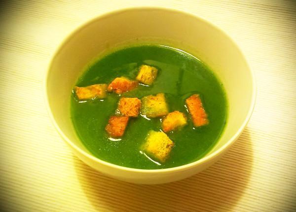 Krémová polievka z medvedieho cesnaku - recept