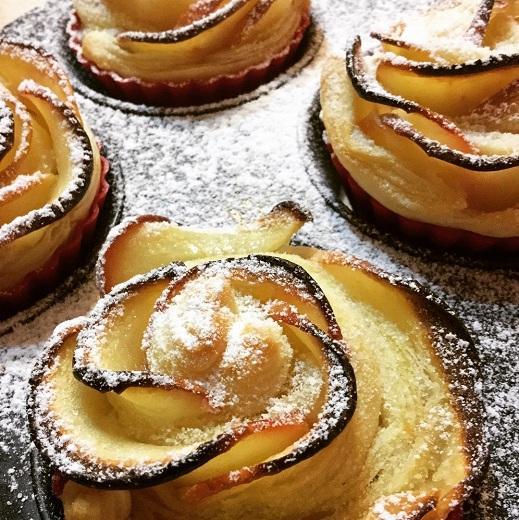 Jablkové kvety s marcipánom - recept