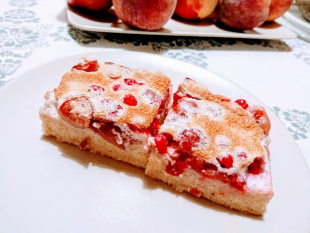 Ríbezľový koláč so snehom - dvojfázové pečenie - recept