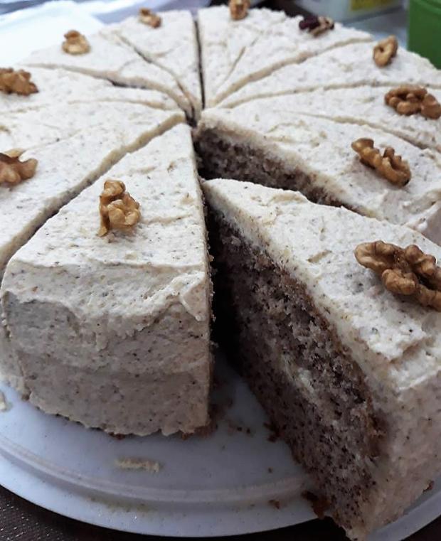 Orechová torta (bez múky) - recept