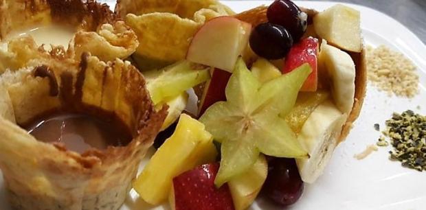 Čokoládové fondue s ovocím - recept