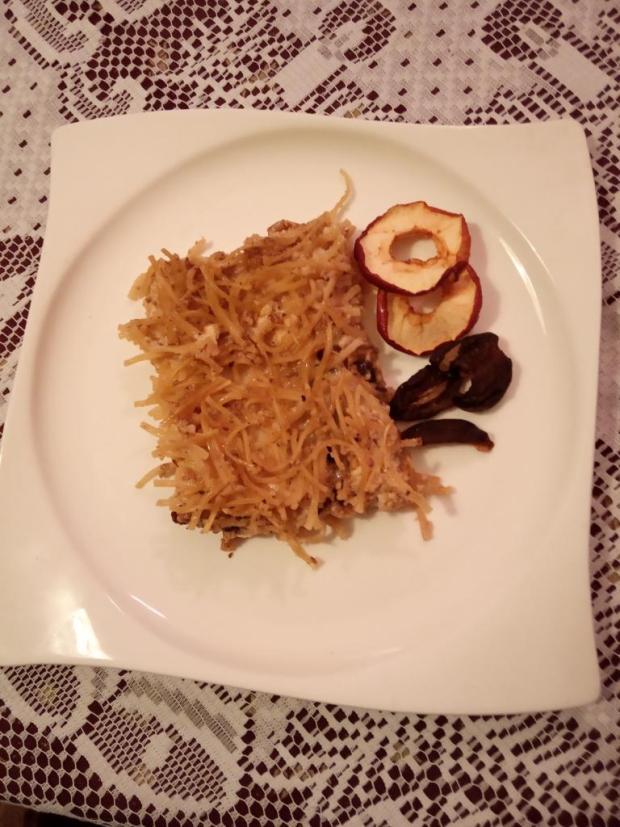 Zapečené orechové rezance s tvarohom - recept