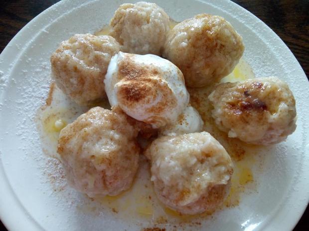 Jablkovo tvarohové knedličky - recept