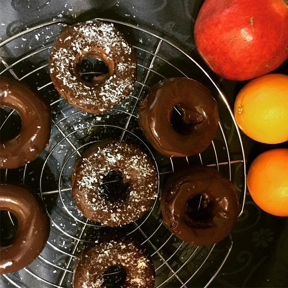Proteinový čoko donut - recept