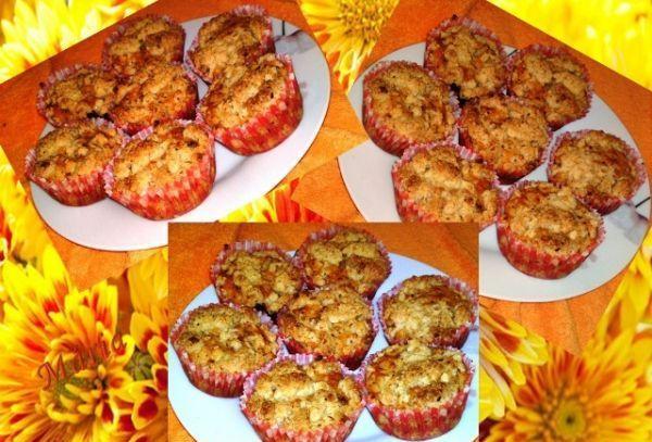 Jablkovo orechové muffiny... - recept