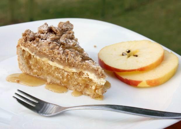 Jablkový koláč s tvarohom - recept