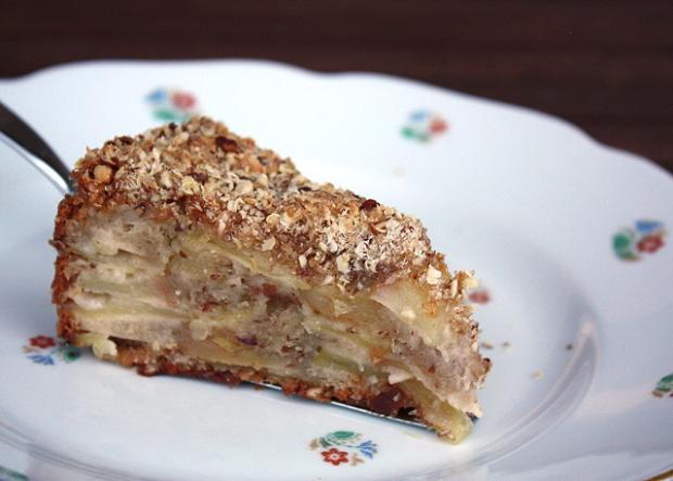 Jablkový koláč s orechami - recept