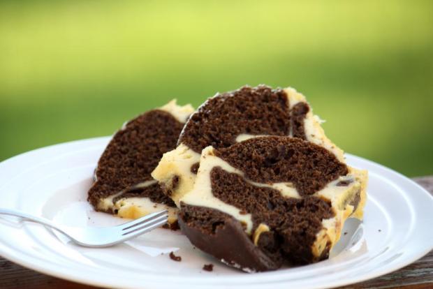 Tvarohovo-kakaový koláč - recept
