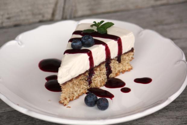 Kokosovo-smotanová nízkosacharidová tortička - recept