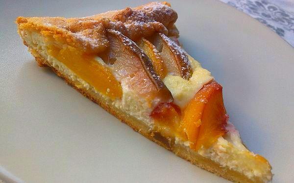 Hruškovo-broskyňový koláč - recept