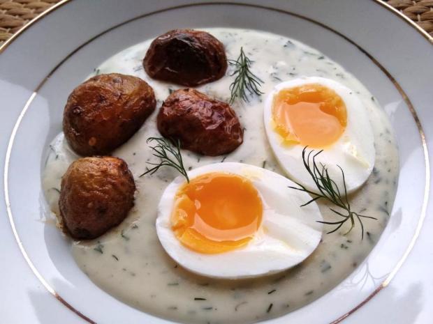 Kôprová omáčka s vajíčkom