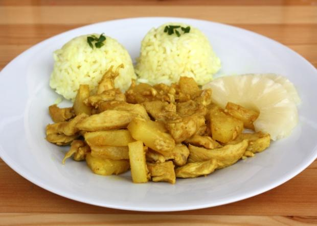 Kuracie prsia s ananásom a kari - recept