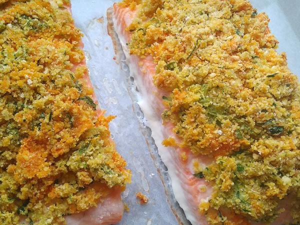 Chrumkavý losos - recept