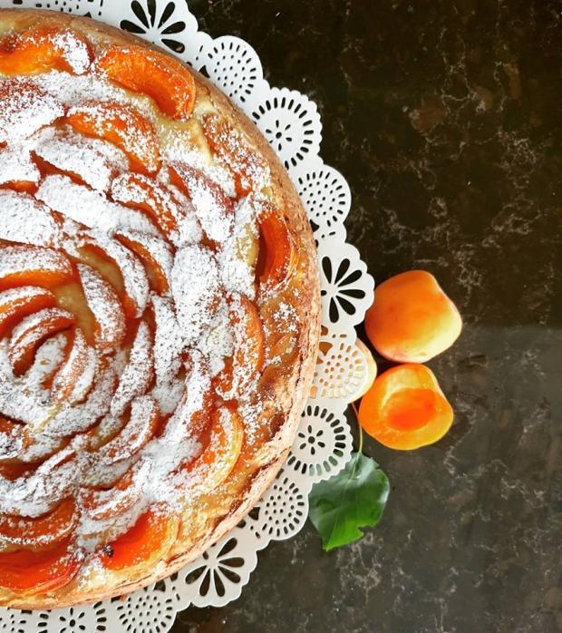 Marhuľový koláč s ricottou - recept