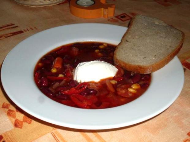Mexický fazuľový guľáš, recept