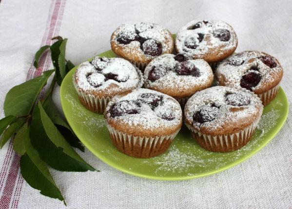 Čerešňové muffiny - recept