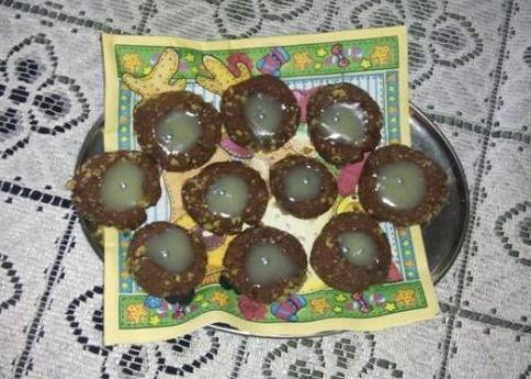 Čokoládové dukáty s bielo a tmavou plnkou - recept