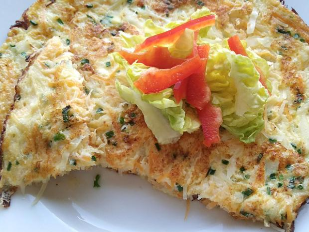 Omeleta s tvarohom a zeleninou - recept