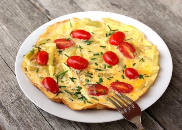 Omeleta so zelenou fazuľkou - recept