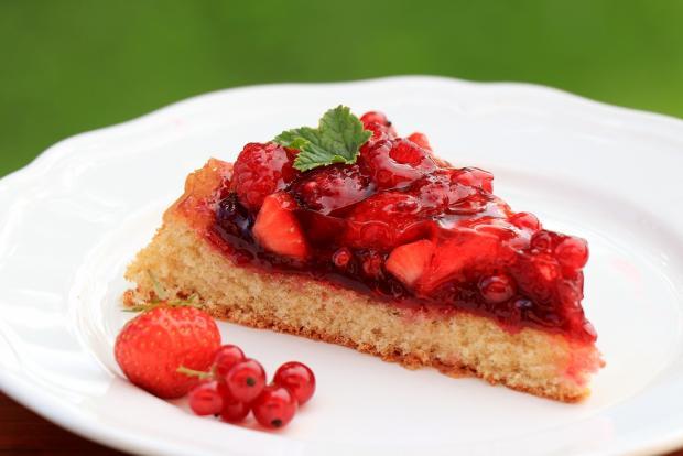 Letný ovocný koláčik so želé - recept