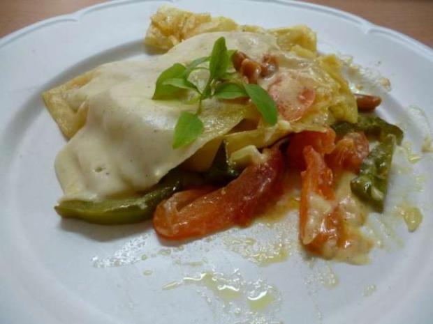 Zeleninové lasagne s kari korením a kešu orieškami - recept