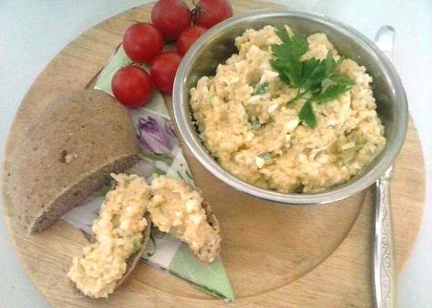 Pomazánka zo pšena s vajíčkom - recept
