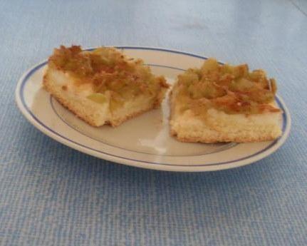 Rebarborový koláč - recept