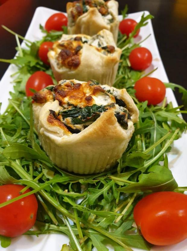 Špenátovo tvarohové košíčky - recept
