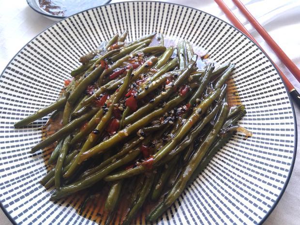Pikantná zelená fazuľka   Recept