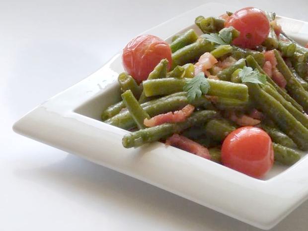 Fazuľkový šalát s cherry rajčinami   Recept