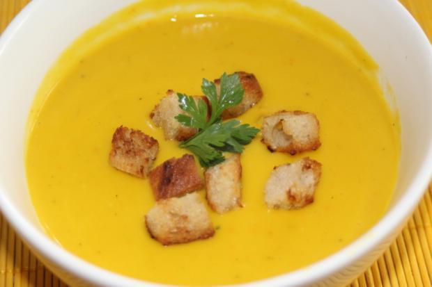 Krémová polievka z tekvice hokaido