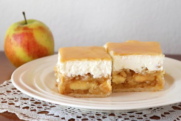 Jablkový krémeš s piškótami - recept