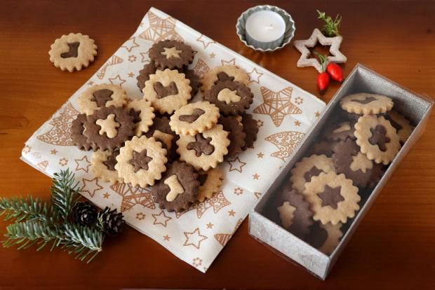 Vianočné dvojfarebné sušienky - recept