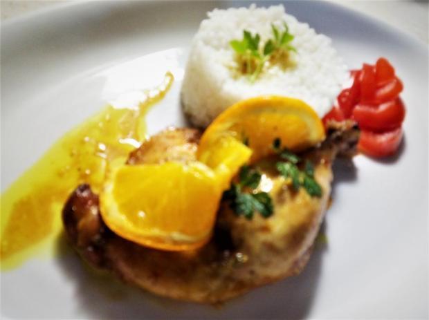 Kuracie stehná s pomarančom - recept