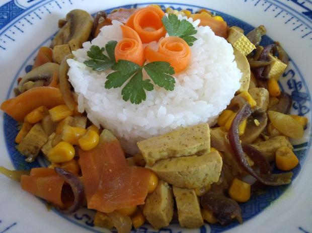 Tofu so zeleninou - recept